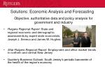 solutions economic analysis and forecasting