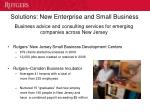 solutions new enterprise and small business