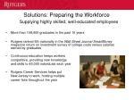 solutions preparing the workforce