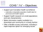 cchs 1 s objectives