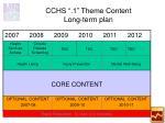 cchs 1 theme content long term plan