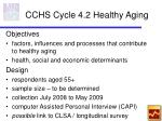 cchs cycle 4 2 healthy aging