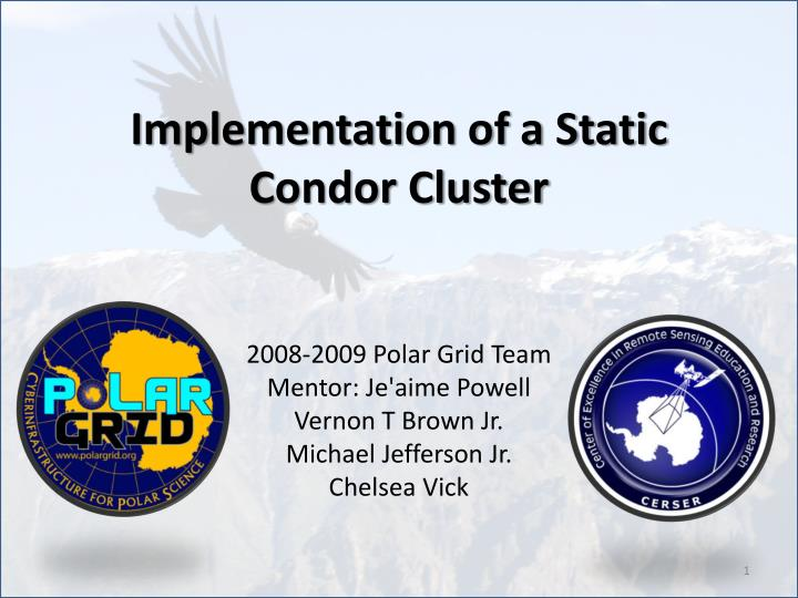 implementation of a static condor cluster n.