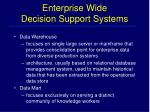 enterprise wide decision support systems