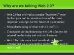 why are we talking web 2 0