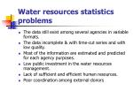 water resources statistics problems