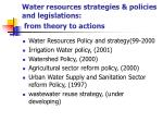 water resources strategies policies and legislations from theory to actions