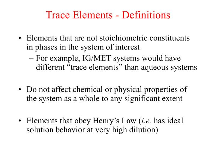 trace elements definitions n.