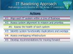 it baselining approach methodology used to baseline wo 200 bureau it investments