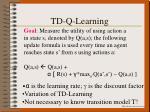 td q learning