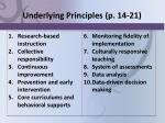 underlying principles p 14 21
