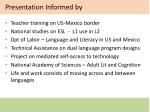 presentation informed by
