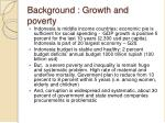 background growth and poverty