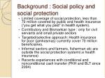background social policy and social protection