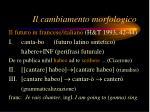 il cambiamento morfologico3