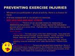 preventing exercise injuries