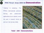 pfdc thrust areas 2005 06 demonstration