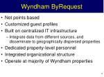 wyndham byrequest