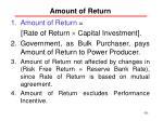 amount of return