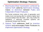 optimization strategy features