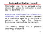 optimization strategy issue 2