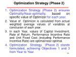 optimization strategy phase 2