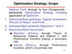 optimization strategy scope