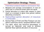 optimization strategy theory