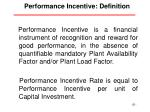 performance incentive definition