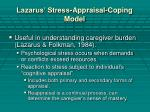 lazarus stress appraisal coping model