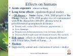 effects on humans