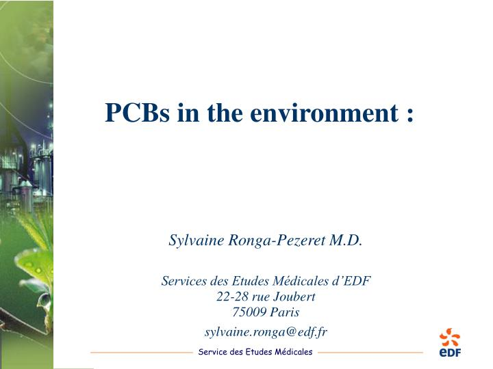 pcbs in the environment n.
