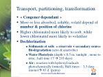 transport partitioning transformation