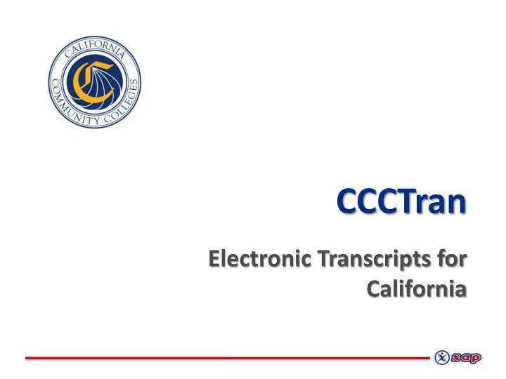 ccctran electronic transcripts for california n.