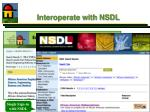 interoperate with nsdl