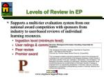 levels of review in ep
