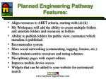 planned engineering pathway features