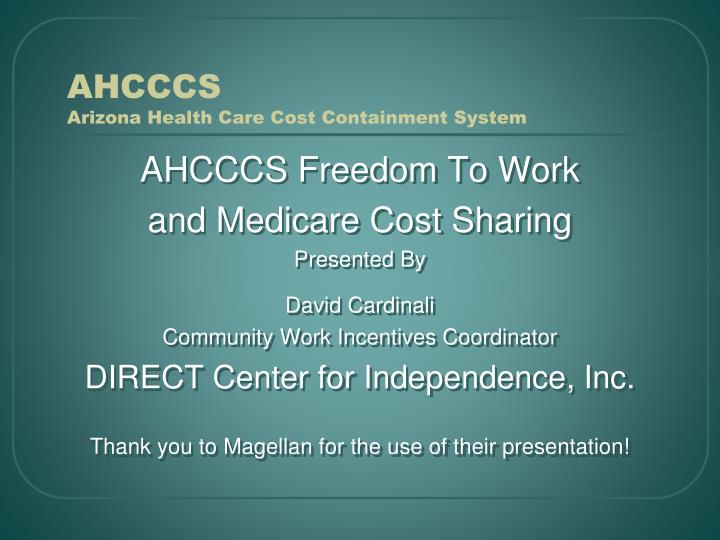ahcccs arizona health care cost containment system n.