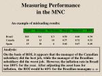 measuring performance in the mnc