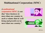 multinational corporation mnc