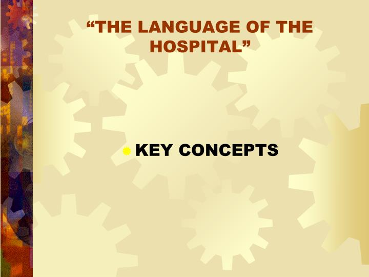 the language of the hospital n.