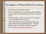 examples of placed based learning