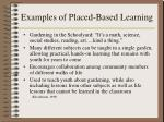 examples of placed based learning1