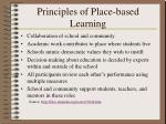principles of place based learning