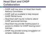 head start and chdp collaboration