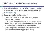 vfc and chdp collaboration