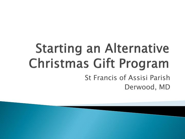 starting an alternative christmas gift program n.