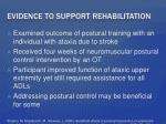 evidence to support rehabilitation2