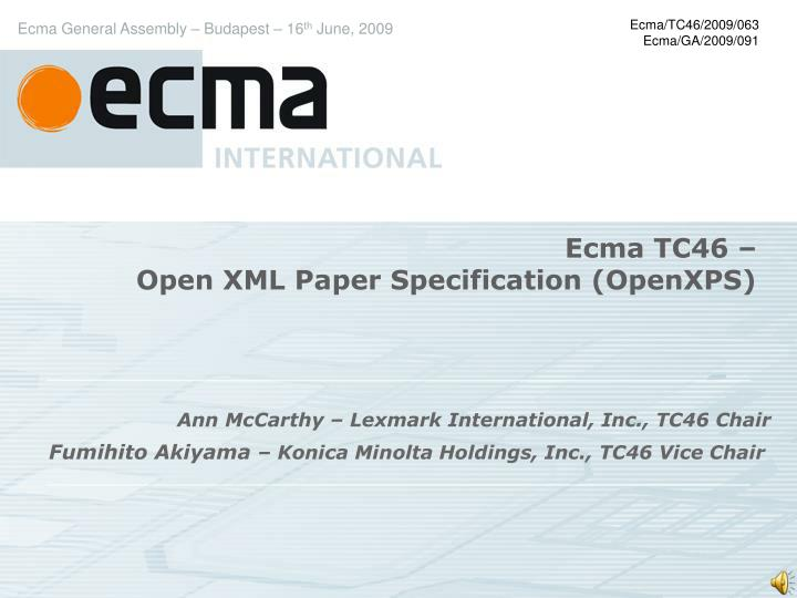 ecma tc46 open xml paper specification openxps n.