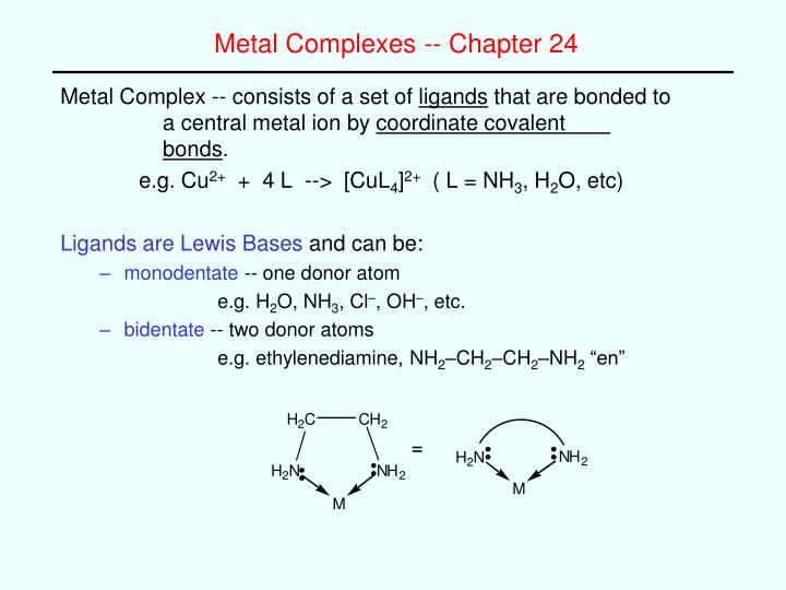 metal complexes chapter 24 n.